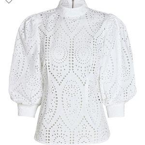 Ganni white top size 6